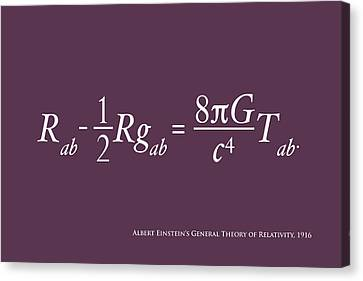 Einstein's Theory Of Relativity Canvas Print by Michael Tompsett