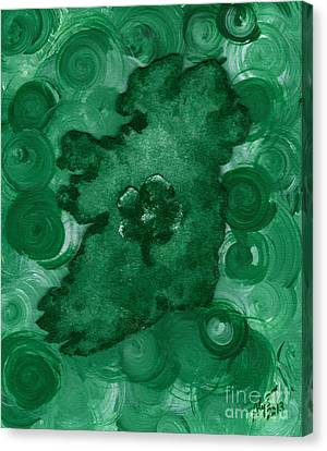 Eire Heart Of Ireland Canvas Print by Alys Caviness-Gober