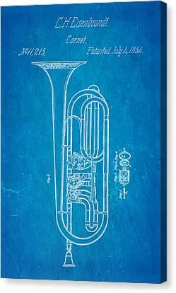 Eisenbrandt Cornet Patent Art 1854 Blueprint Canvas Print by Ian Monk