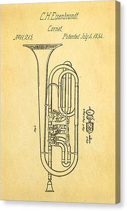 Eisenbrandt Cornet Patent Art 1854 Canvas Print by Ian Monk