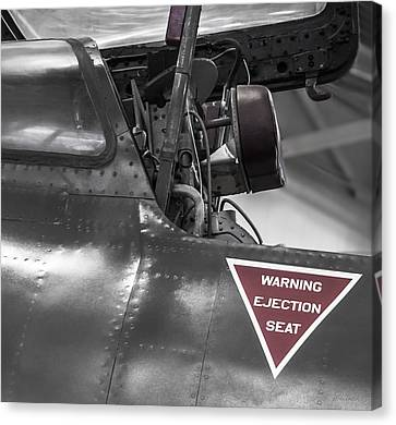 Ejection Seat Warning Canvas Print by Steven Milner