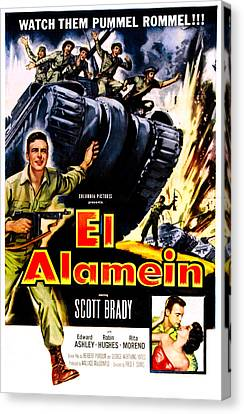 El Alamein, Us Poster, Scott Brady Canvas Print by Everett