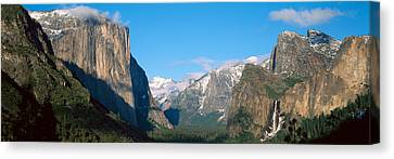 El Capitan And Half Dome Rock Canvas Print by Panoramic Images