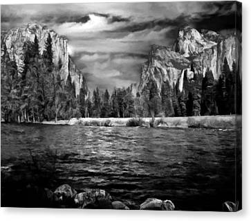 El Capitan - Bridalveil - Half Dome Canvas Print