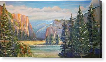 El Capitan  Yosemite National Park Canvas Print by Remegio Onia
