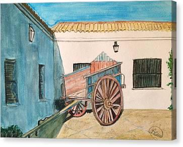 Cortijo Canvas Print - El Carro by Asuncion Purnell