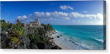 El Castillo Tulum Mexico Canvas Print by Panoramic Images