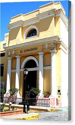 Canvas Print featuring the photograph El Convento Hotel by The Art of Alice Terrill