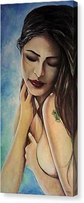 El Coqui Canvas Print by Ramon Lopez Collazo