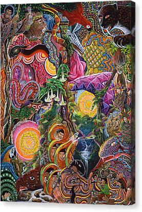 Ayahuasca Visions Canvas Print - El Encanto De Las Piedras by Pablo Amaringo