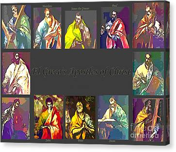 El Greco's Apostles Of Christ Canvas Print by Barbara Griffin