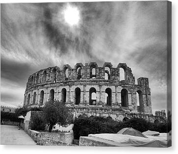 Architectur Canvas Print - El Jem Colosseum 2 by Dhouib Skander