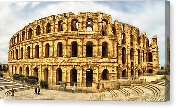 Architectur Canvas Print - El Jem Colosseum by Dhouib Skander