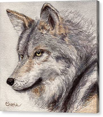 El Lobo Canvas Print by Vikki Wicks