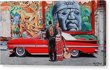 El Mariachi Y La Danzante Canvas Print