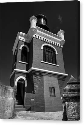 Castillo San Felipe Canvas Print - El Morro 002 Bw by Lance Vaughn