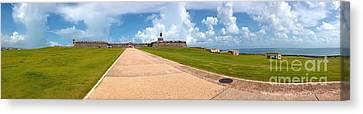El Morro Walkway Canvas Print by Carey Chen