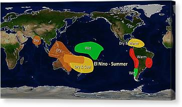 El Nino Summer Effects Canvas Print by Noaa