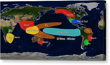 El Nino Winter Effects Canvas Print by Noaa