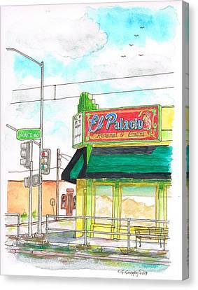 El Palacio Restaurant In Route 66, Andy Devine Ave., Kingman, Arizona Canvas Print