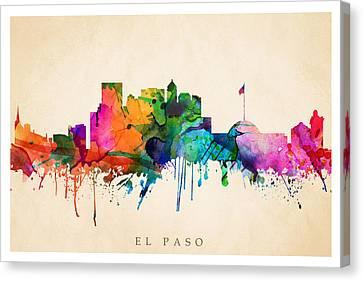 El Paso Cityscape Canvas Print