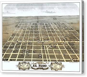 El Paso Illinois 1869 Map Canvas Print