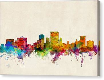 El Paso Texas Skyline Canvas Print by Michael Tompsett