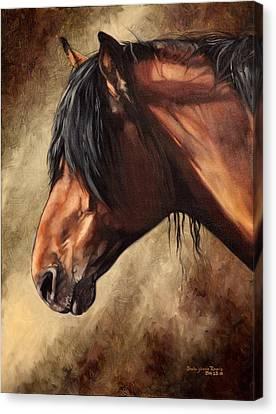 Forelock Canvas Print - El Peruano by Shaila Yovan Tenorio