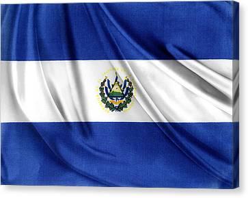 El Salvador Flag Canvas Print by Les Cunliffe