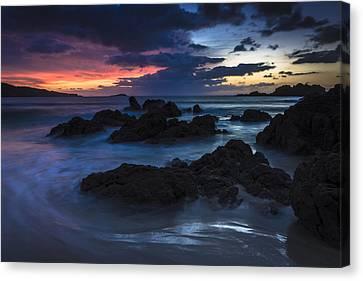 Canvas Print featuring the photograph El Villar Beach Galicia Spain by Pablo Avanzini