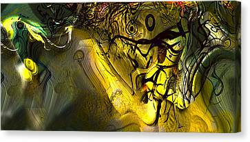 Canvas Print featuring the digital art Elaboration Of Day Into Dream by Richard Thomas