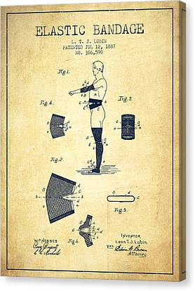 Elastic Bandage Patent From 1887 - Vintage Canvas Print by Aged Pixel