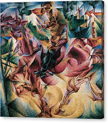Abstract Movement Canvas Print - Elasticity by Umberto Boccioni