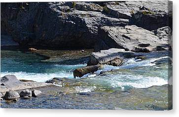 Elbow Falls Landscape Canvas Print by Cheryl Miller