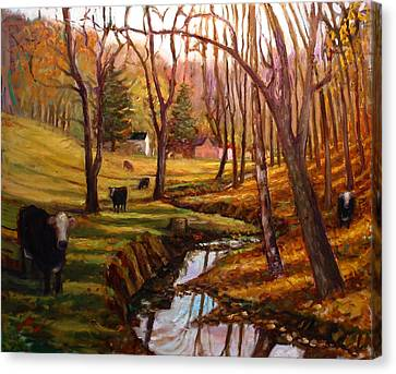 Elby's Cows Canvas Print