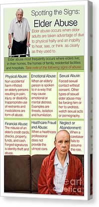 Frailty Canvas Print - Elder Abuse by Cmsp