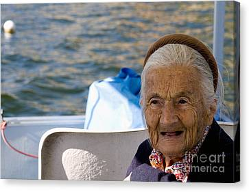 Toothless Canvas Print - Elderly Woman, Italy by Tim Holt