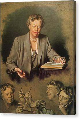 First Ladies Canvas Print - Eleanor Roosevelt, First Lady by Science Source