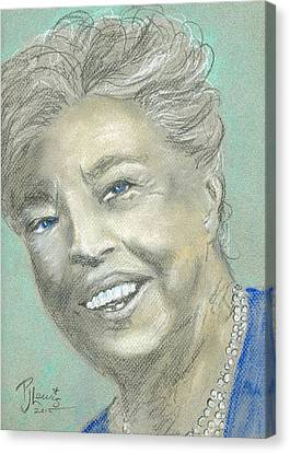 Eleanor Roosevelt Canvas Print by P J Lewis