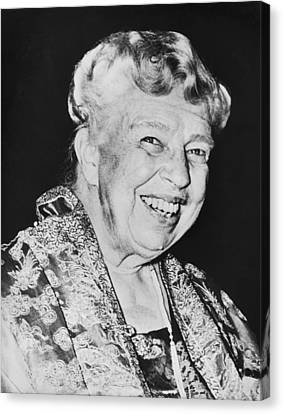 Eleanor Roosevelt Canvas Print by Underwood Archives