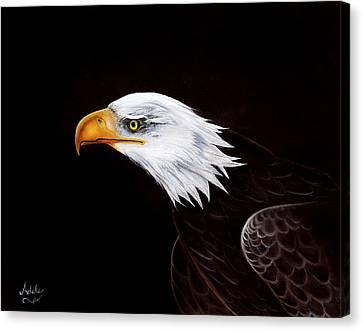 Eleanor The Eagle Canvas Print by Adele Moscaritolo