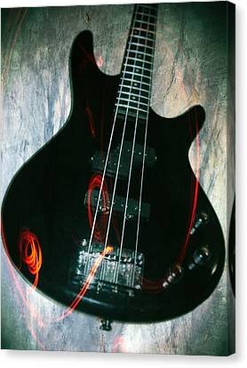 Electric Bass - In The Studio Canvas Print