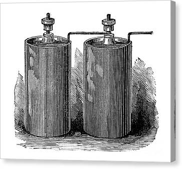 Electric Batteries, 19th Century Canvas Print by Spl
