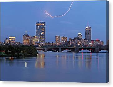 Electric Boston Canvas Print by Juergen Roth