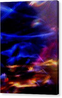 Canvas Print featuring the photograph Electric Chaos by Mike Breau