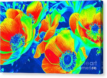 Electric Floral Canvas Print by Geri Glavis