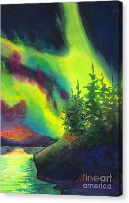 Electric Green In The Sky 2 Canvas Print