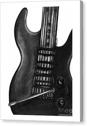 Electric Guitar Canvas Print
