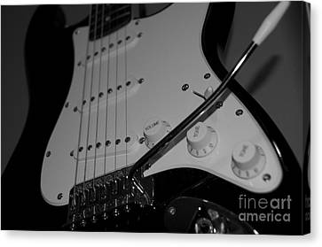 Canvas Print featuring the photograph Electric Guitar  by Sarah Mullin