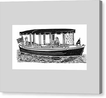 Electric Harbor Launch Canvas Print by Jack Pumphrey